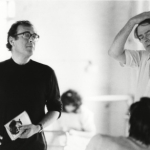 Harold Pinter and Simon Gray rehearsing The Common Pursuit in 1984